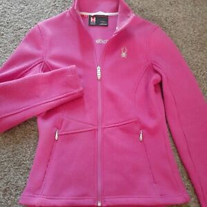 Spyder Core Sweater Womens Pink Size Medium Zip Up Jacket