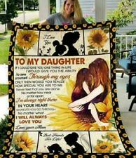 To My Daughter I Will Always Love You Love Your Mom Fleece Blanket