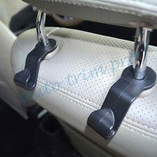 2X Black Universal Car Vehicle Seat Hook Purse Bag Hanging Hanger Holder Parts