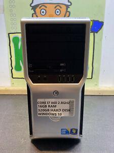 DELL PRECISION T1500 PC INTEL i7 860 2.8GHz 16GB RAM 320GB WINDOWS 7 COMPUTER