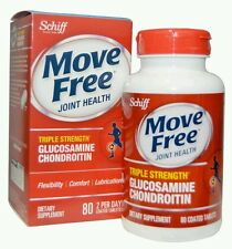 Schiff Move Free Advanced Triple Strength + Msm  Vitamin D3 80  Tablets No Box