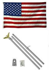2x3 0.6mx3 ' eeuu. AMERICANA 50 Estrella Bandera ALUMINIO Polo Kit Set