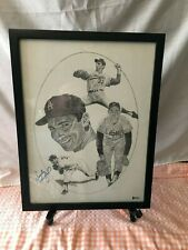 Sandy Koufax Autographed auto Lithograph Beckett authenticate Litho Framed