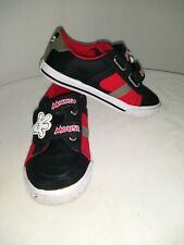 Disney Mickey Mouse Toddler Sneakers Black/Red Size 11