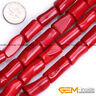"""Wholesale Lot Assorted Colors Coral Stone Tube Beads For Jewelry Making 15"""""""