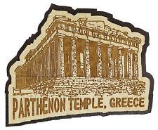 printtoo bois gravé Parthenon temple grèce réfrigérateur souvenir aimant
