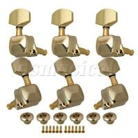 Gold 3x3 Semiclosed Tuning Pegs Machine Heads For Acoustic guitar