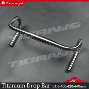 Tiorays Titanium Drop Handlebar Bike Bicycle 25.4/31.8*22.2mm 400/420/440mm
