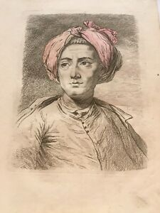 1797 Hand Coloured Antique Etching India Gentleman