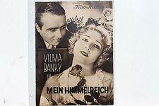 BFK 1290 Filmprogramm MEIN HIMMELREICH 1929 mit Vilma Bankdy  James Hall