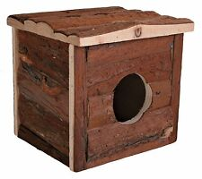 Jerrik Hamster House Natural Wood Hide-Away Hut for Gerbils Mice Hamsters