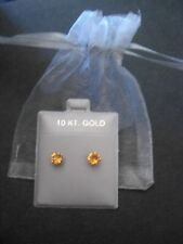 1CTW CITRINE EARRINGS IN SOLID 10K YELLOW GOLD EARRINGS FAST FREE SHIPPING!