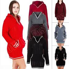 Unbranded Hip Length Hooded Jumpers & Cardigans for Women