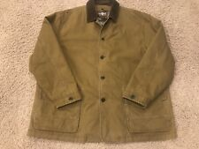 LEVI STRAUSS Barn Coat Jacket Duck Canvas Brown Wool Lined MENS XXL Liner