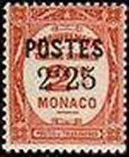 "MONACO STAMP TIMBRE 152 "" TIMBRES-TAXE SURCHARGE 2 F 25 SUR 2 F ""  NEUF x TB"