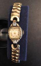 Kingston Ladies Watch 10k RGP Bezel Art Deco Crystal Speidel Band 17 Jewels Vtg