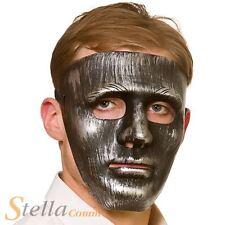 Deluxe Robot Mask Iron Antique Silver Halloween Masquerade Fancy Dress