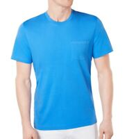 Club Room Mens T-Shirt Palace Blue Size 2XL Pocket Crewneck Tee Solid $22- 387