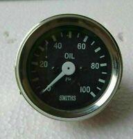 Smith Oil Pressure Gauge 0 100 Bar Chrome Bezel Black