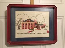 VINTAGE Completed Legal Officials CROSS STITCH COURTHOUSE Virginia Beach VA