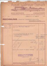 EISENACH, Rechnung 1935, August Wallmeyer Eisengiesserei Maschinen-Fabrik