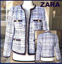 ZARA WOMAN SHORT TWEED COAT wGOLD DETAIL BUTTONS Size S 2790/612 BNWT $99