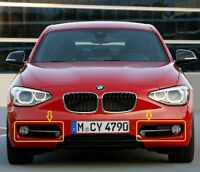 PAIR of Genuine BMW 1 SERIES (F20/F21) FRONT BUMPER Fog Light Grill LEFT / RIGHT