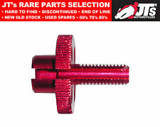 Cable Adjuster for handlebar lever clamp - Alloy Red 8mm thread 814977