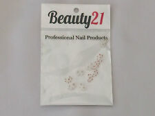 Beauty 21 Nail Decoration Bows White With Red Spots New