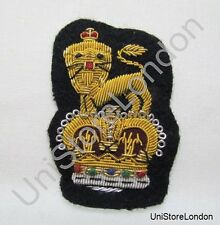 General Staff Officer  Peak Cap Badge Large Navy Blue R1106