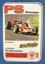 Quartett - PS Rennwagen - ASS - Nr. 3200 - mit Werbekarte - von 1971 - Auto