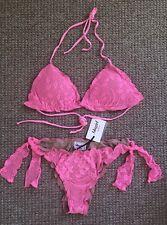Blugirl Blumarine Nude & Pink Lace Bikini Swimwear IT 44 UK 12 EU 38 / 40