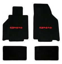 NEW! 1986-1991 Black Floor Mats Porsche 944 with Red 944 Embroidered Logo 4 Set