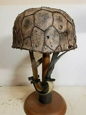 WWII German M37 Fallschirmjager Winter Chickenwire Paratrooper Helmet