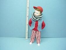 Miniature Young Boy in Denim Vest Dollhouse Doll, #10409 Erna Meyer 1/12th