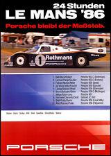 Le Mans 1986 Porsche Race poster print A3