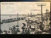Vintage Postcard>1907-1915>Midland Beach>Looking South>Staten Island>N.Y.