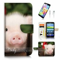 ( For Samsung S5 ) Wallet Case Cover P4161 Cute Pig