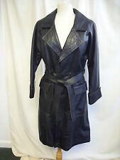"Ladies Leather Coat Sylvia Clyne at PIEL, black open style, bust 30-32"", 2065"