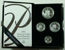 2001 American Eagle Platinum Proof 4 Coin Set in Box w/ COA
