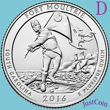 2016-D FORT MOULTRIE SUMTER NATIONAL MONUMENT QUARTER UNCIRCULATED