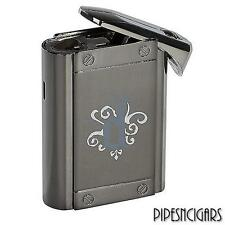 Diesel COLIBRI Uber Triple Flame Torch Cigar Lighter Gun Metal / Gray Table-top
