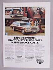 Chevrolet Caprice Estate Station Wagon PRINT AD - 1975