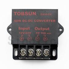 DC-DC 12V/24V to 5V 10A Step Down Power Regulator Converter Module Transformer