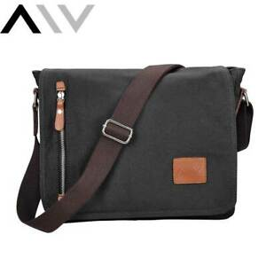 Mens Crossbody Messenger Bag Shoulder Satchel Vintage Canvas Laptop School