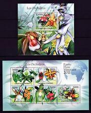 COMORES 2011 LES ORCHIDEES ORCHIDEAS FLOWERS BLUMEN FLORA STAMPS MNH**