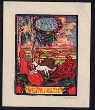 30)Nr.102- EXLIBRIS- Josef Vachal, 1912