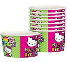 Hello Kitty Rainbow Snack Ice Cream Cups 8 Per Package Birthday Party Supplies