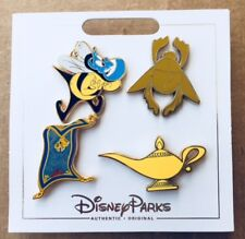 DISNEY PARKS ALADDIN AUTHENTIC 4 PIN SET NEW 2017