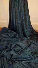 """5 M Due Tonalità Color Foglia Di Tè Blu Paisley Print Dress/fodera in tessuto broccato 58"""""""
